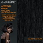 "American Dream Yaki Straight Original American Indian Human Hair Weft/Weave 12"" to 22"" Long Colour 1 Jet Black"